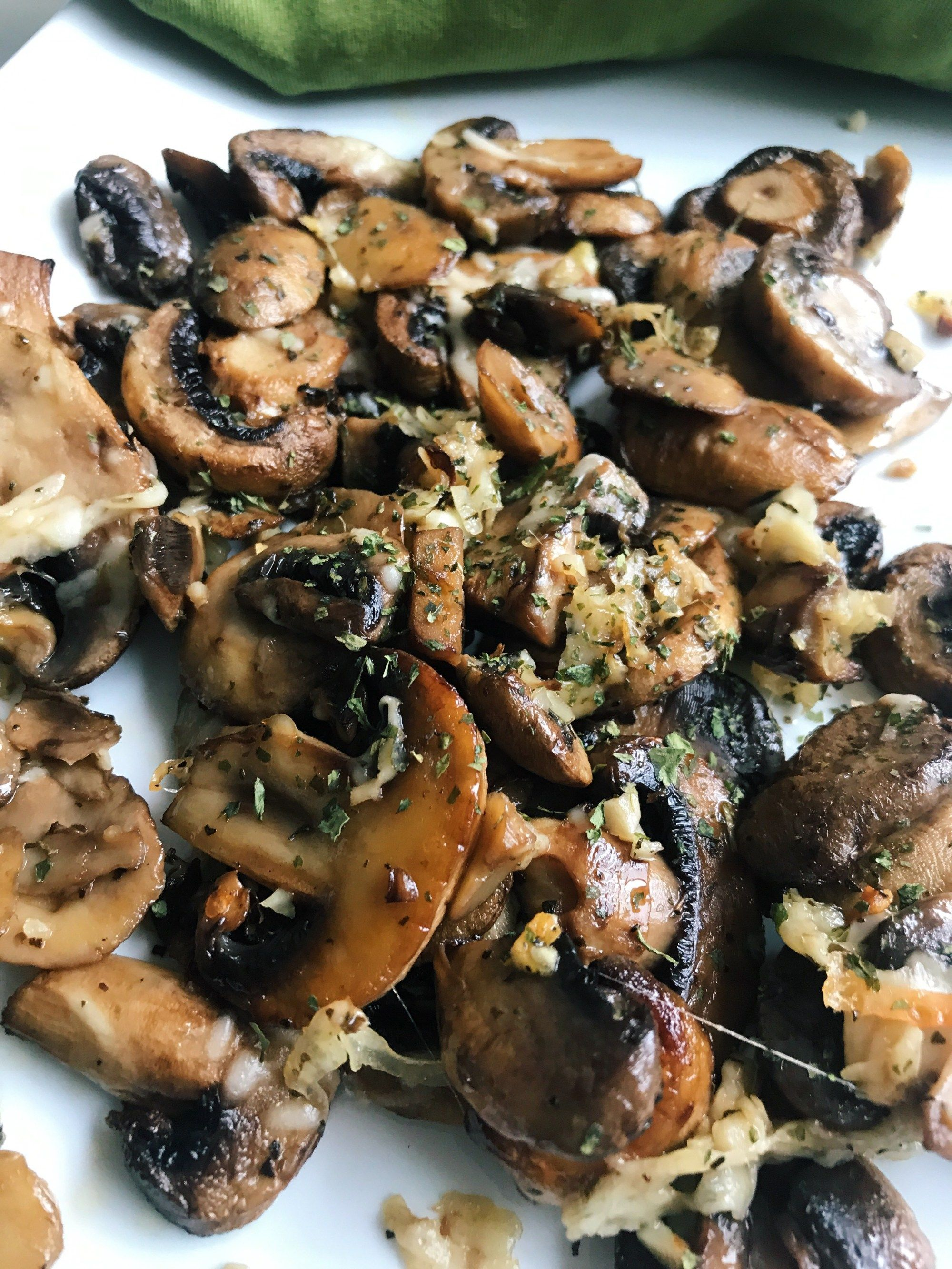 Parmesan Garlic Roasted Mushrooms - restoredreality