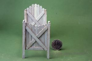 This picket gate bed for a dolls house child is made from common wooden stir sticks. - Photo copyright 2008 Lesley Shepherd, Licensed to About.com Inc.