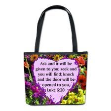 LUKE 6:20 Bucket Bag Luke 6:20 http://www.cafepress.com/heavenlyblessings/12848097 # Luke620 #GospelofLuke #Luke6quote  #Luke6scripture #Askanditwillbegiven #JesusisLord #Jesussaves