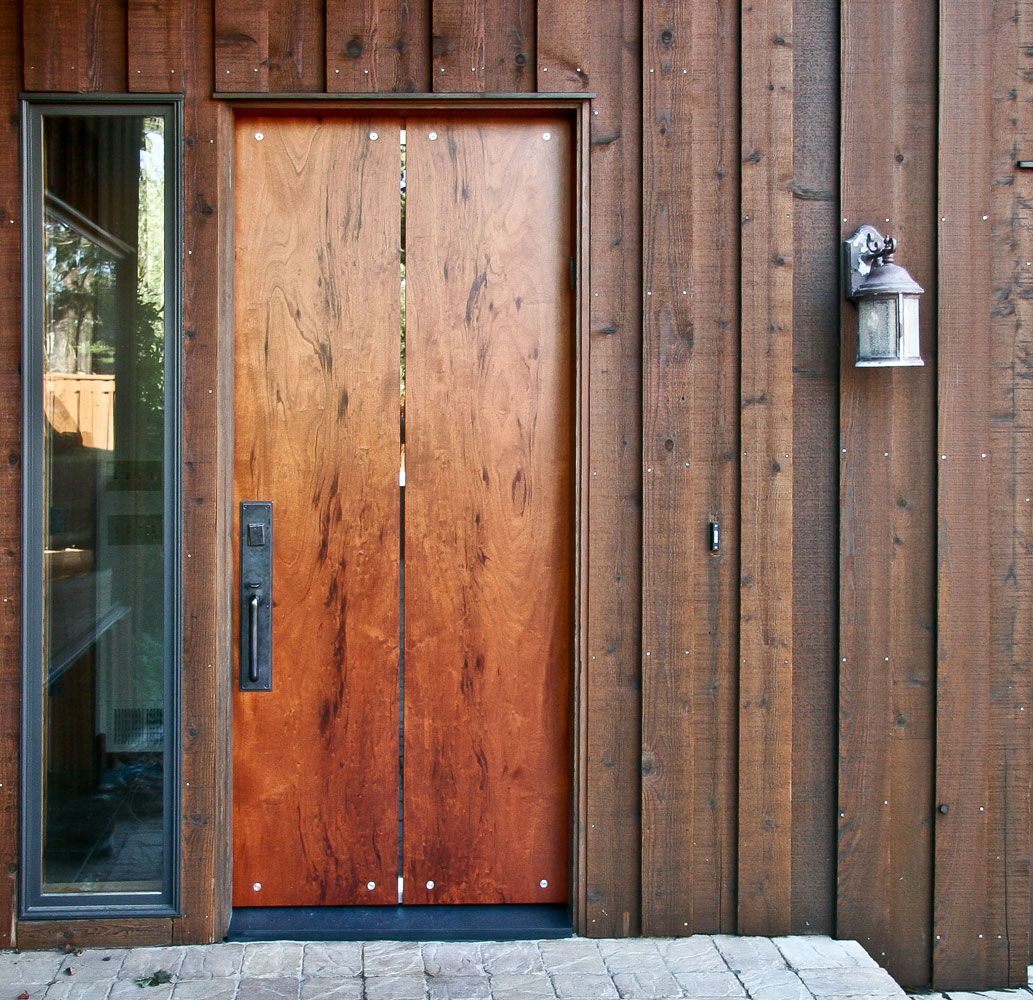 Custom Wood Slab Doors Custom Exterior Doors Contemporary Front