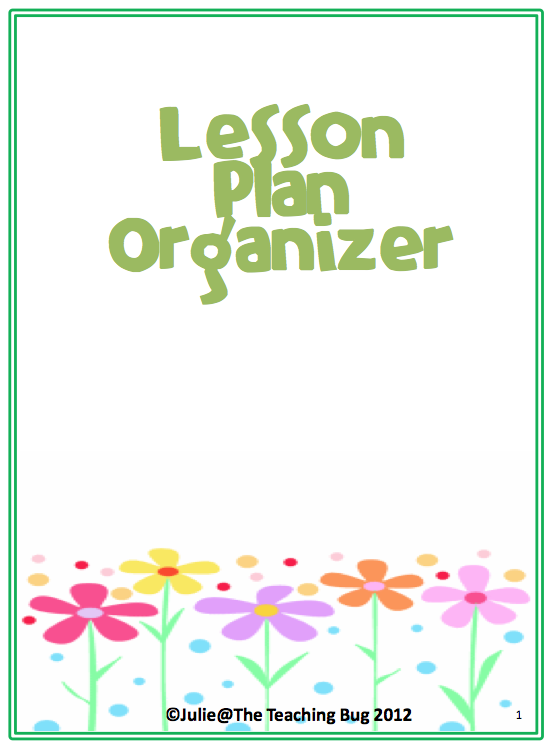 "The Best of Teachers Pay Teachers: FREE MISC. LESSON - ""Lesson Plan Organizer"""