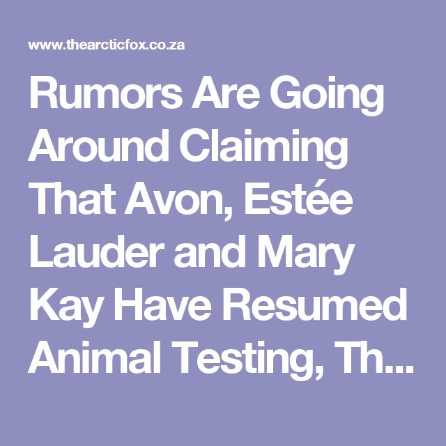 Rumors Are Going Around Claiming That Avon, Estée Lauder