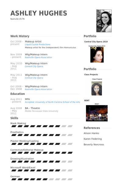 Makeup Artist Resume Example Resume Resume Sample Resume
