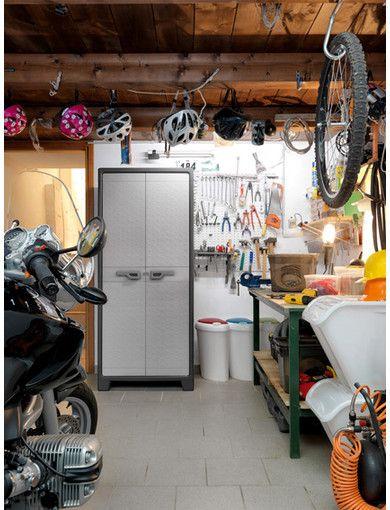 Kunststof Kasten Garage.Deze Hoge Opbergkast Titan Van Kis Past In Iedere Garage Tuin Of Op