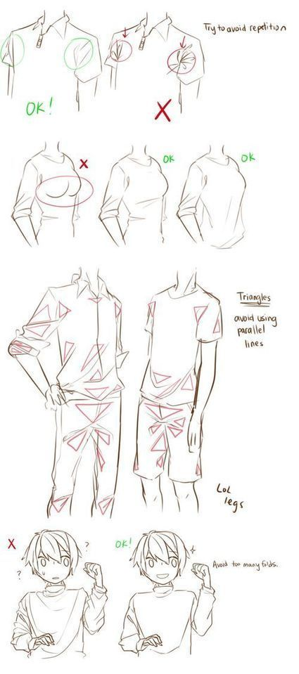 How Draw Wrinkles Clothes