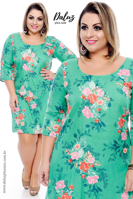 Vestido Plus Size Ellora - Coleção Primavera Verão Plus Size ...