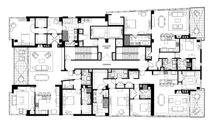 Great floor plans on the 11th floor of the Hotel Indigo Asheville