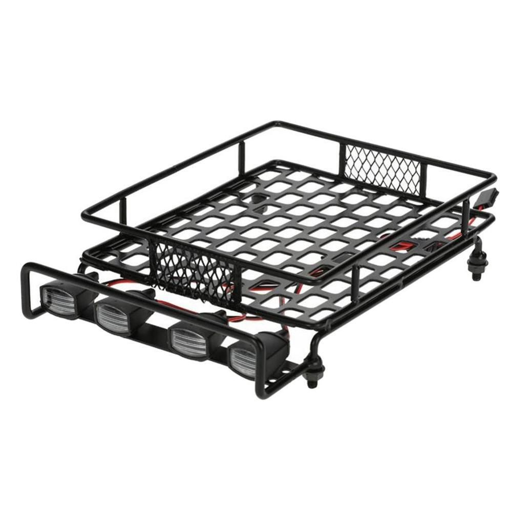 Luggage Roof Rack w/ 2 White 2 Red LED Light Bar for 1/8