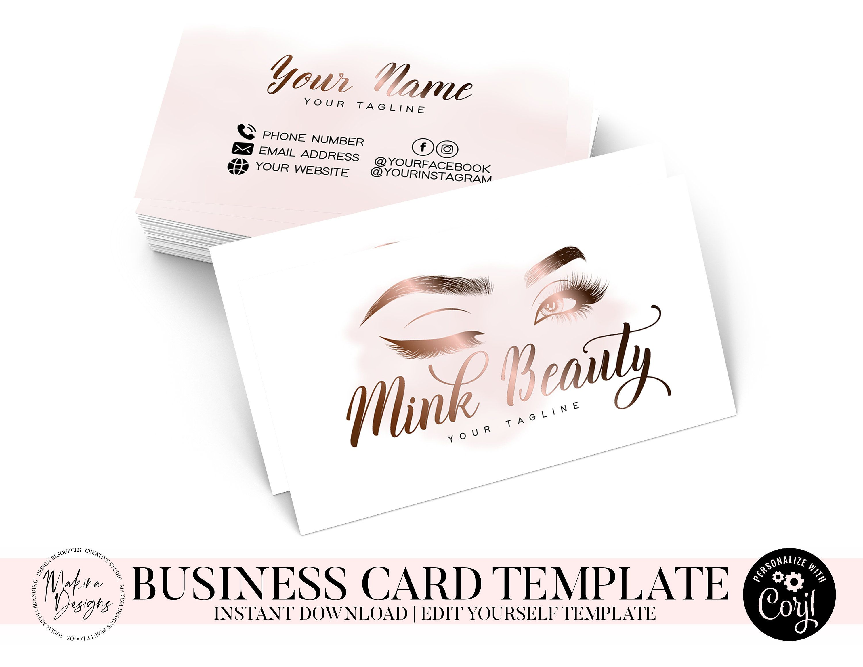Business Card Template Business Card Card Design Logo Etsy Business Card Template Card Template Card Design