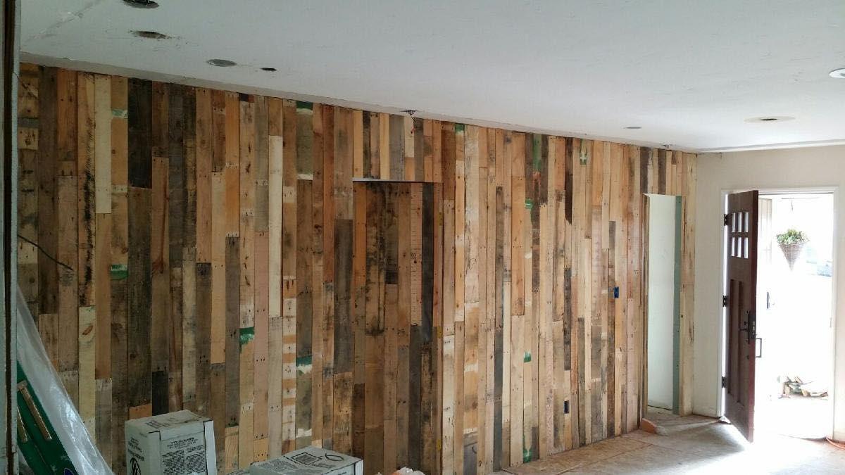 rustic vertical pallet wall with hidden doorway pallet on pallet wall id=60680