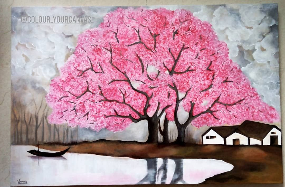 Customized work 24x36 -      Customized work 24x36 #cherryblossom #giftideas #acrylicpainting #acrylic #realisticpainting #verma_painting #tree#pink#giftsforher #weedinggift #homedecore #riverpainting #treepainting #landscapepainting #scenery #scenerypainting #naturepainting #realisticpainting #pinktree #pinkacrylics #acrylicpaint #artist #artistsoninstagram #artistsofinstagram #art_promote #artforsale #artoftheday🎨 #indianartist#homedecore #walldecor #paintingforlivingroom     Best Picture For