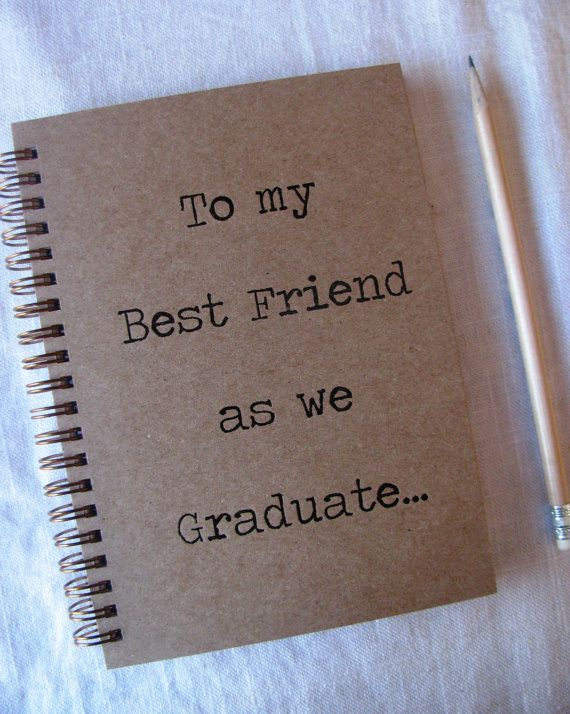 To my Best Friend as we Graduate   Letter pressed 5.25 x 7.25 inch
