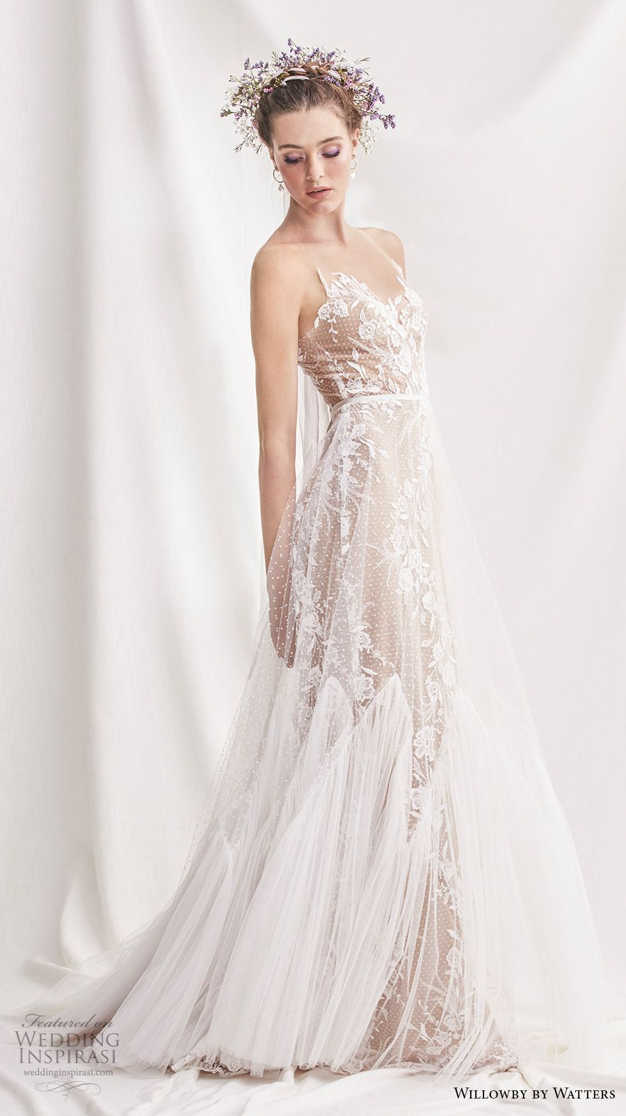Willowby By Watters Spring 2019 Bridal Sleeveless Sheer Strap Sweetheart Neckline Full Embellishment Romantic A Line Wedding Dress Button Back Sweep: Spring Wedding Dresses Cinderella At Reisefeber.org