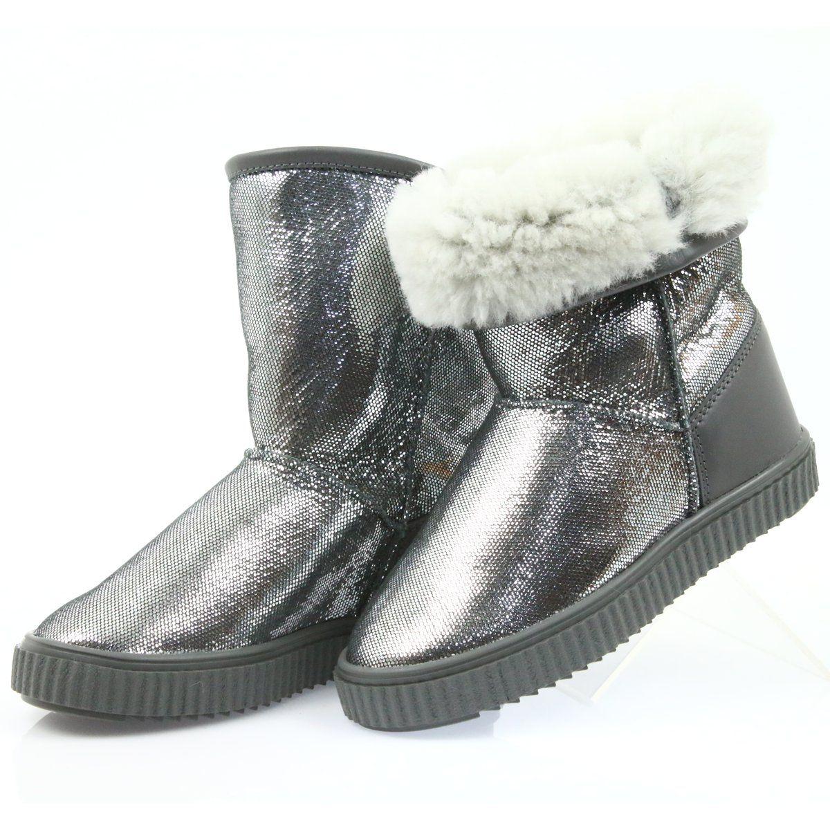 Kozaki Bartek 477750 Naturalna Welna Szare Boots Girly Shoes Childrens Boots