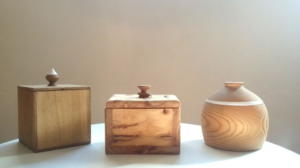 commission  wooden boxes wooden stools miniature house