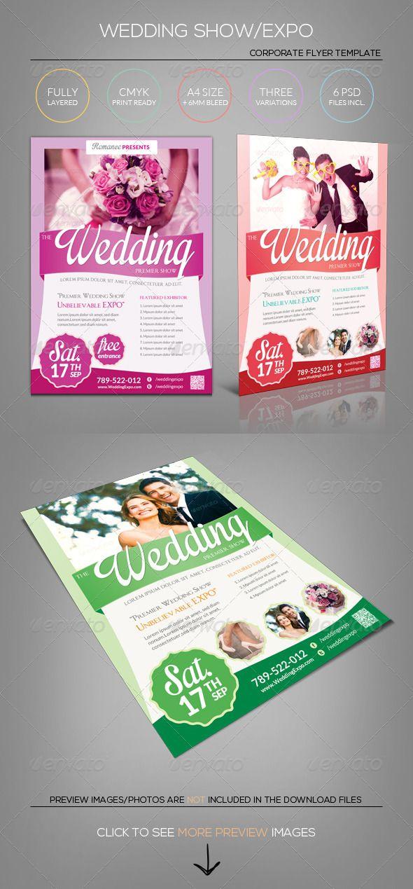 Wedding Expo\/Show Flyer Template III Flyer template, Template - wedding brochure template