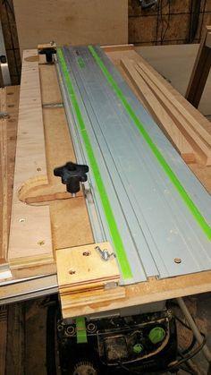 Narrow Rip Jig For Festool Tracksaw Festool Woodworking Woodworking Jigs