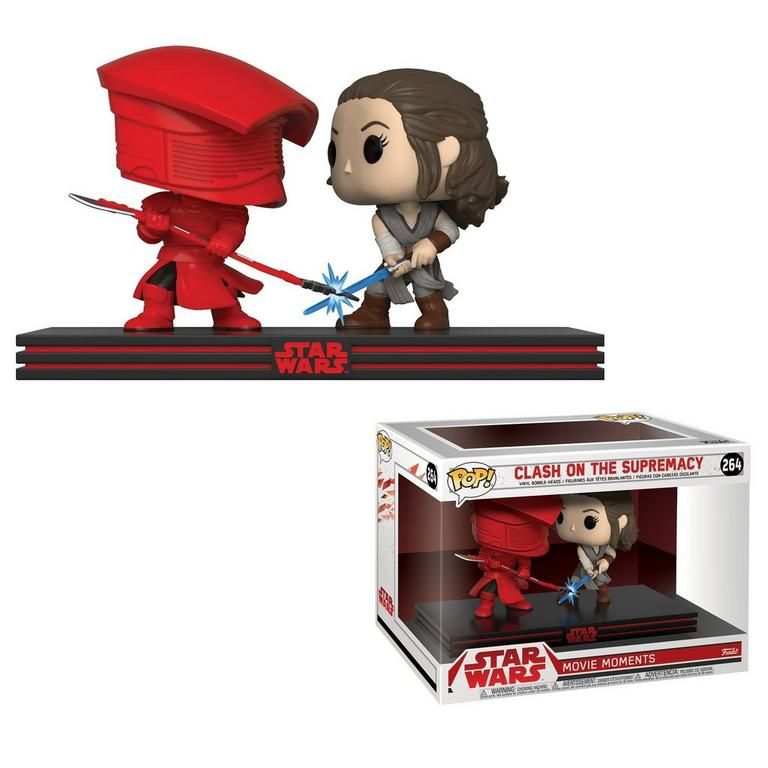 Funko Pop Movie Moment Star Wars Clash On The Supremacy Rey Vs Praetorian Guard Vinyl Figure 264 Funko Pop Star Wars Star Wars Games Rey Star Wars