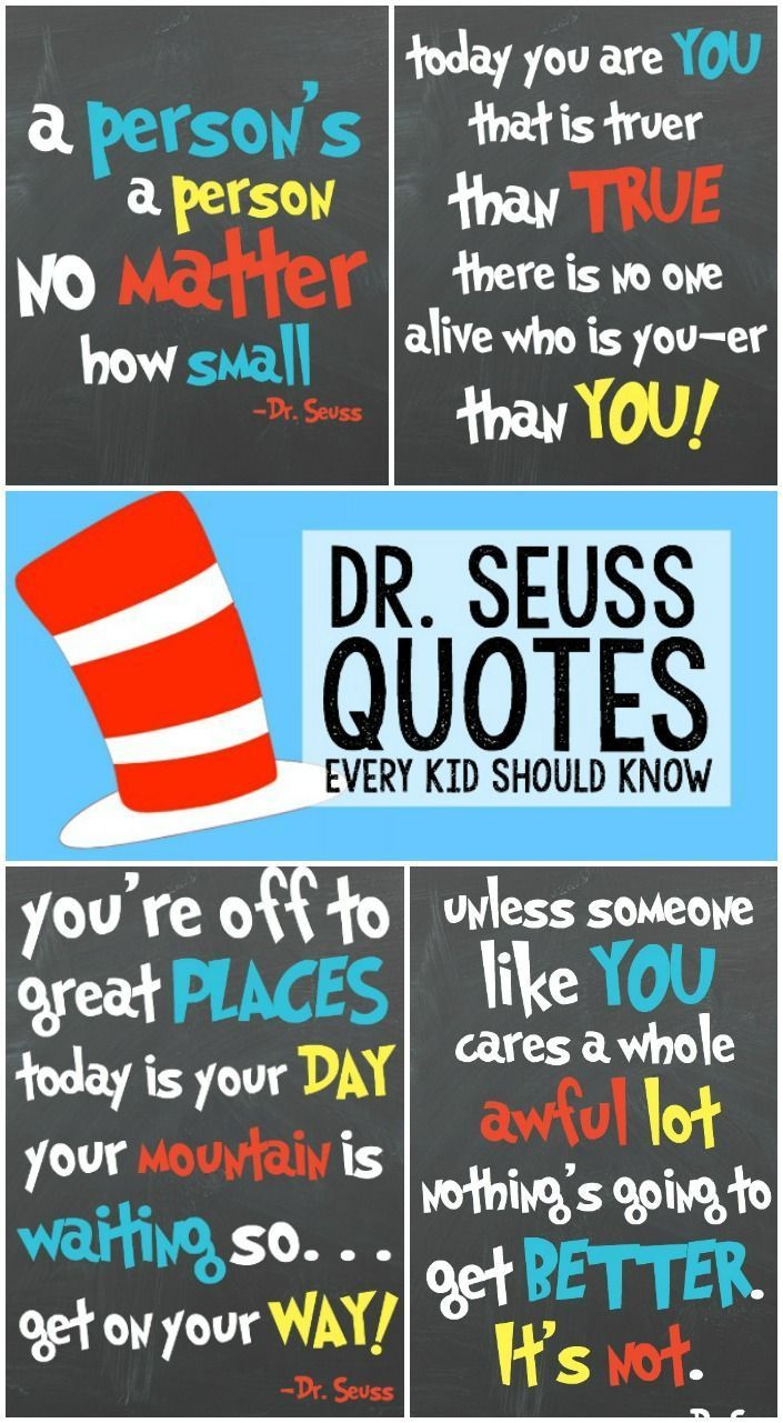 Dr Seuss Quotes For Kids Inspirational Quotes For Kids Dr