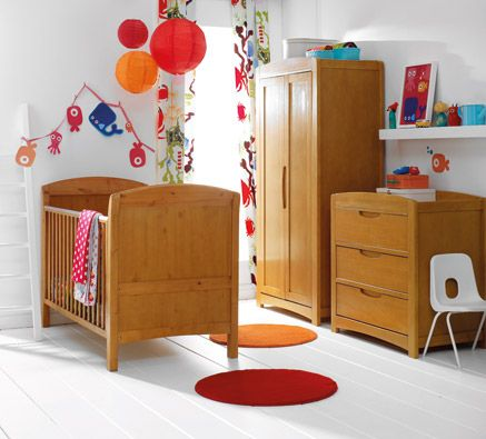 Cosatto Arlo Nursery Furniture Roomset Honey Pine Crux Baby