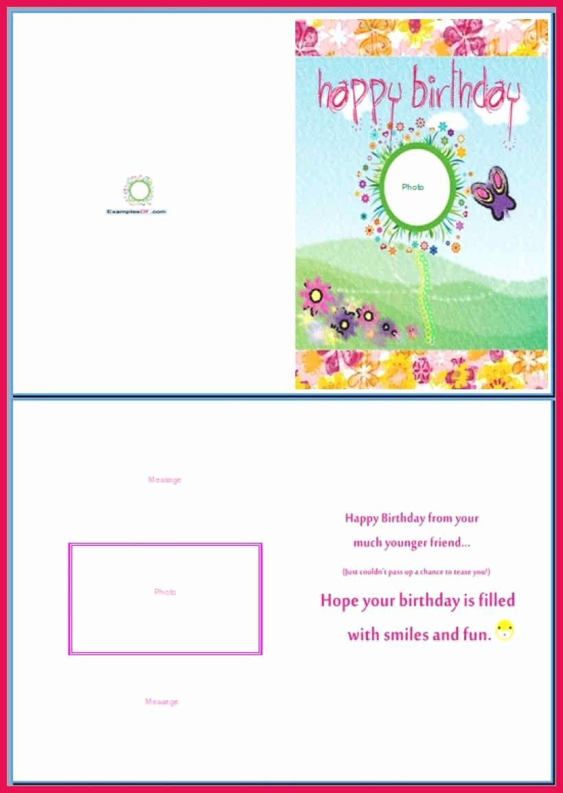 Birthday Card Template For Word Fresh Birthday Card Template Word Birthday Card Template Free Greeting Card Template Birthday Card Template