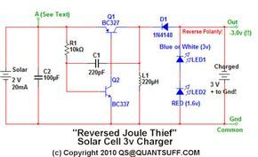 The Reverse Joule Thief Battery Charger Joule Thief Battery Charger Joules