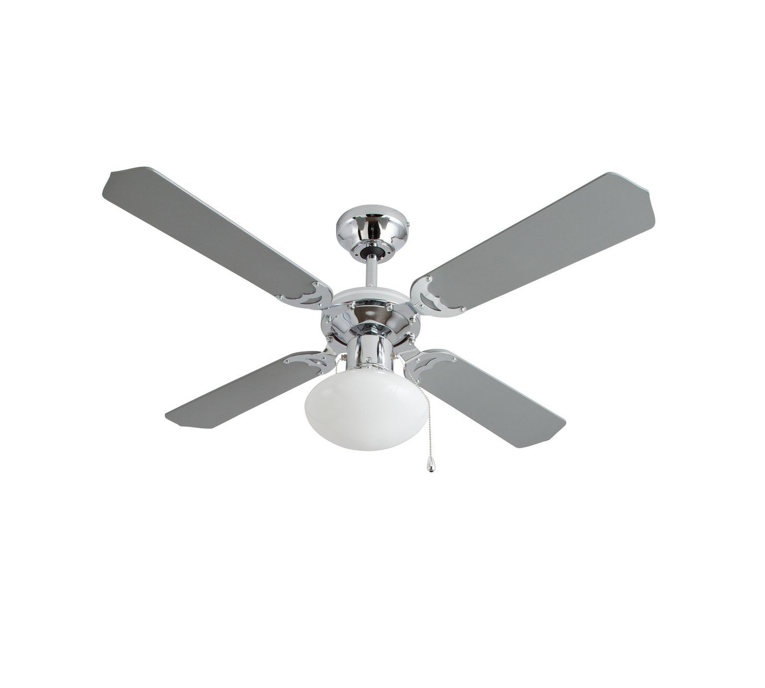 Buy Argos Home Ceiling Fan - Grey & Chrome   Ceiling fans ...