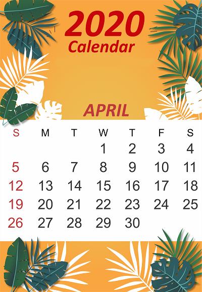 April 2020 iPhone Calendar Wallpaper in 2019 Calendar
