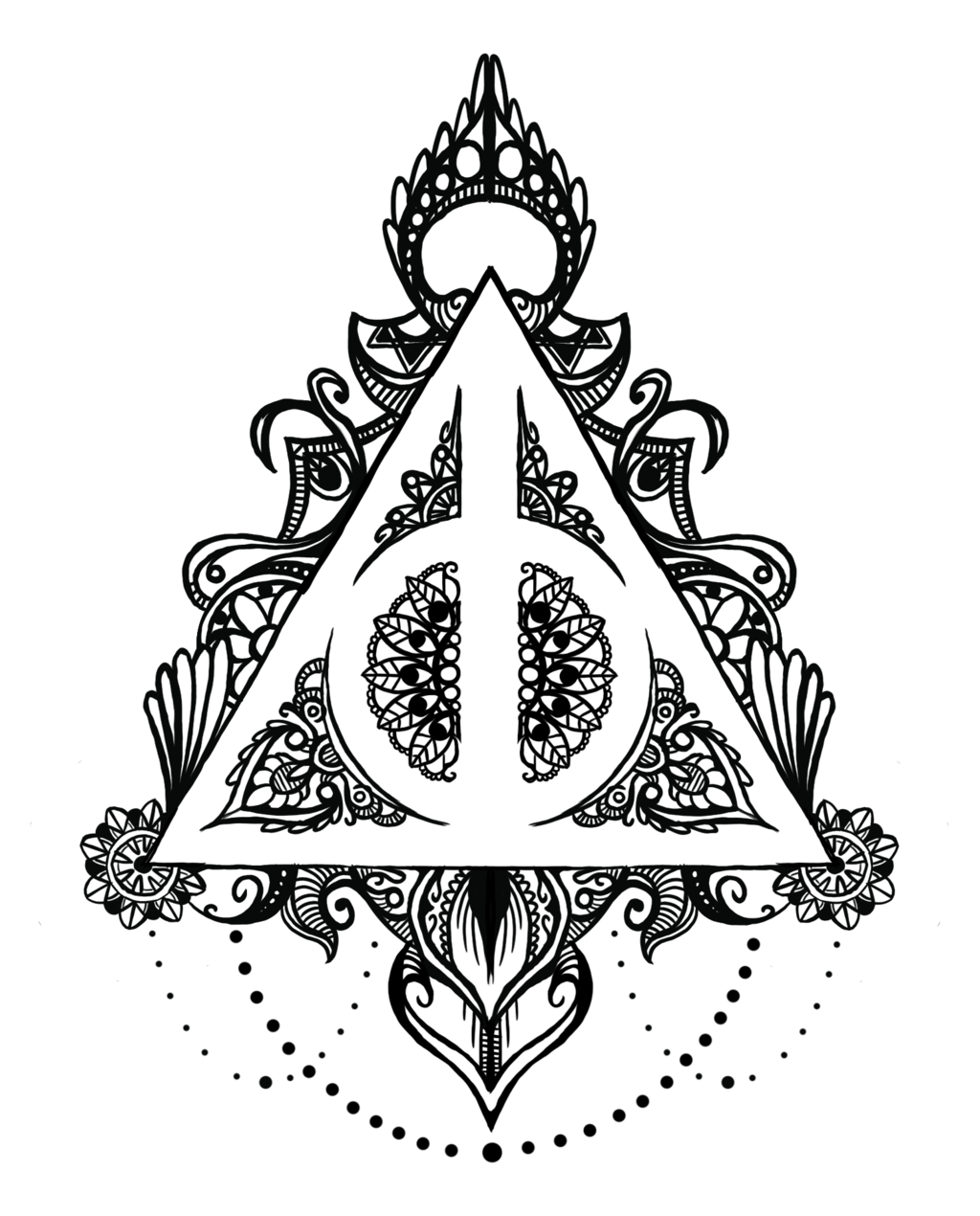 Image Result For Deathly Hallows Mandala Herz Tattoo Bedeutung Harry Potter Tattoos Harry Potter Zeichen