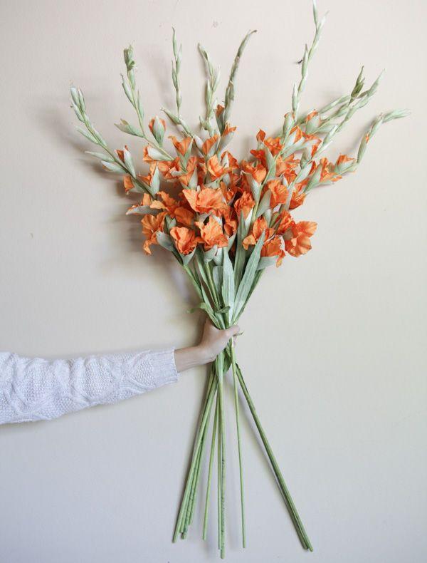 Orange gladiolus flower gladiolus flower mulberry paper orange gladiolus flower mightylinksfo