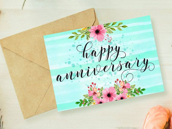 Anniversary card printable,anniversary card for parents - anniversary printable cards