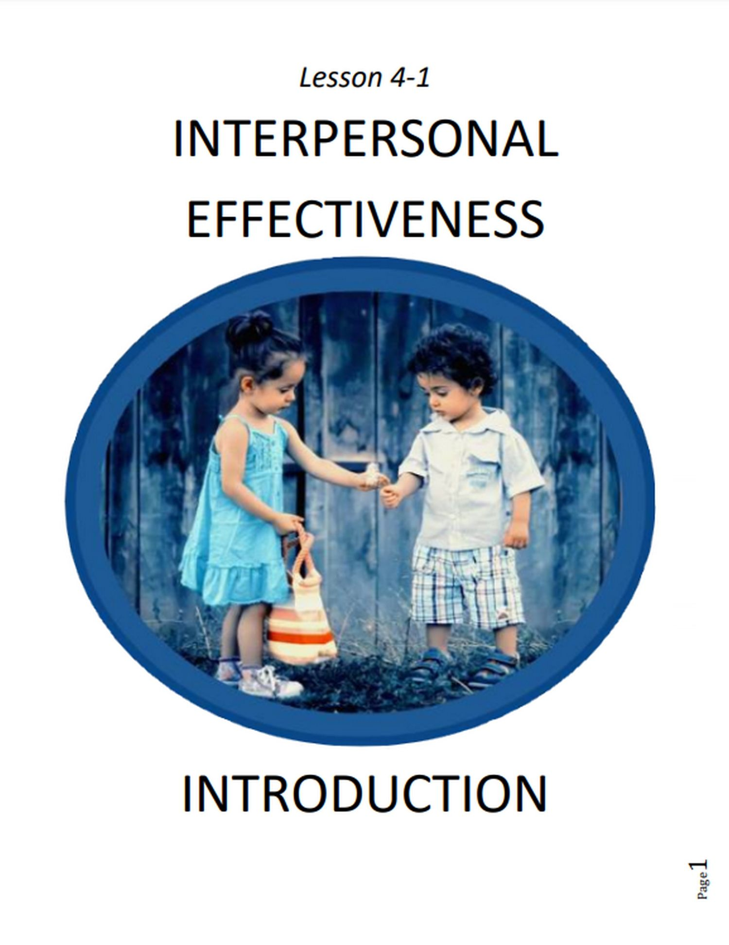 4 1 Intro To Interpersonal Effectiveness