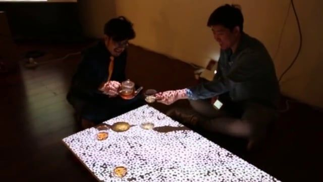 IN&OUT (Interactive projection tea table)  with G-CONIC