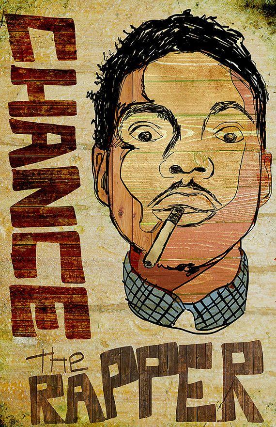 Chance The Rapper Poster Zp Pinterest Com Projectblowed Chance The Rapper Rapper Art Hip Hop Art
