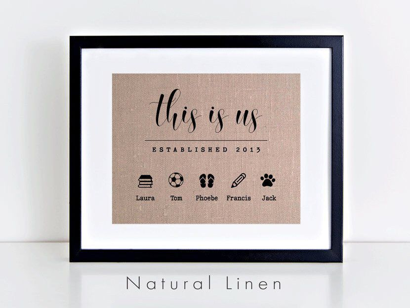 This Is Us Icons Print New Home Gift For Wife