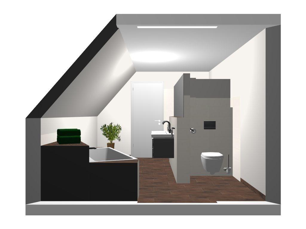 Badezimmerplanung Dachschrägen Visualisierung   Fliesen Und Badezimmer  Planung Im Neubau