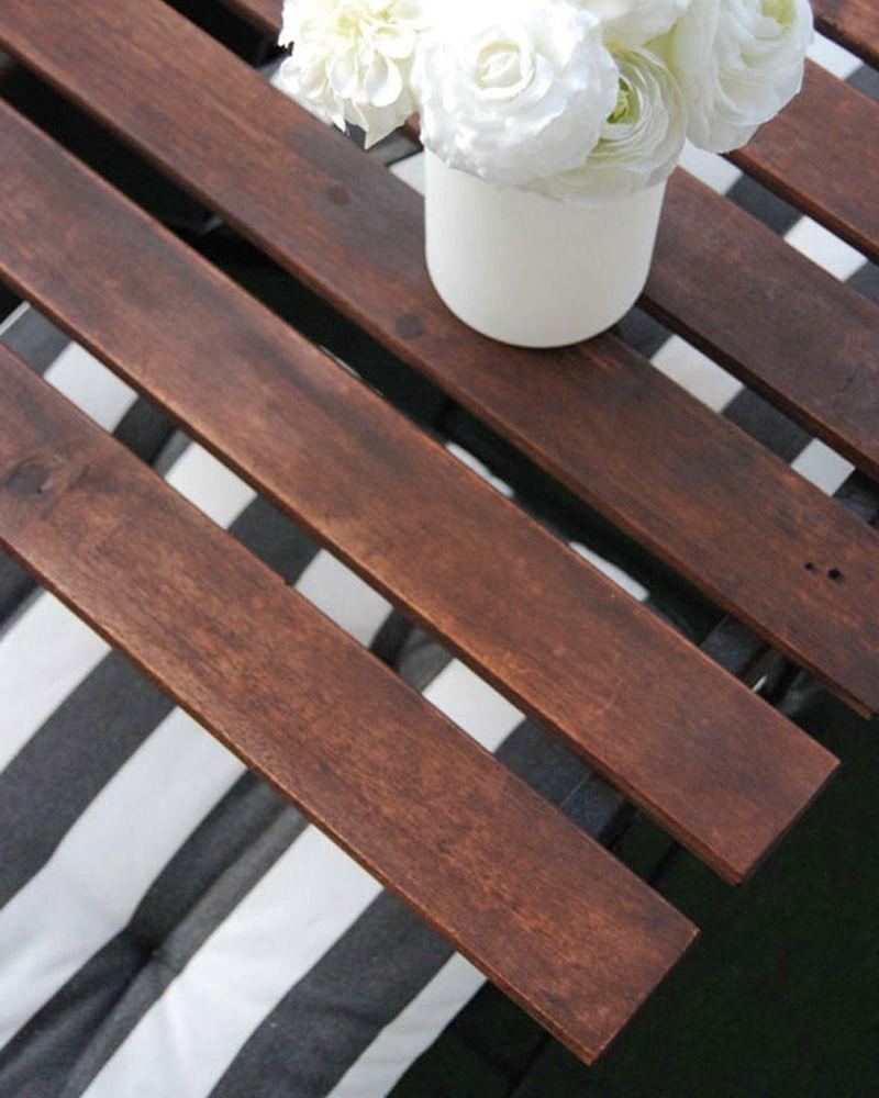 Rénover un salon de jardin en bois DIY | Pinterest | Jardins en bois ...