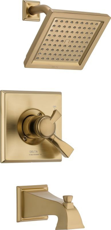 Delta T17451 Dryden Tub and Shower Trim Package with Single Function ...