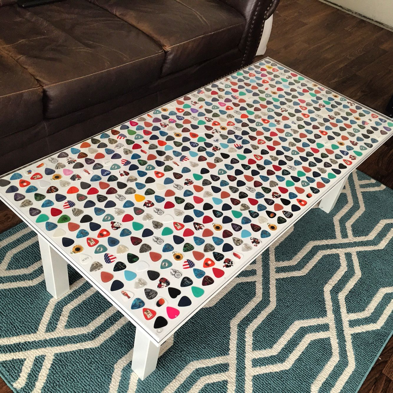 custom guitar pick coffee table a house at pooh corner in 2019 guitar room guitar pick art. Black Bedroom Furniture Sets. Home Design Ideas