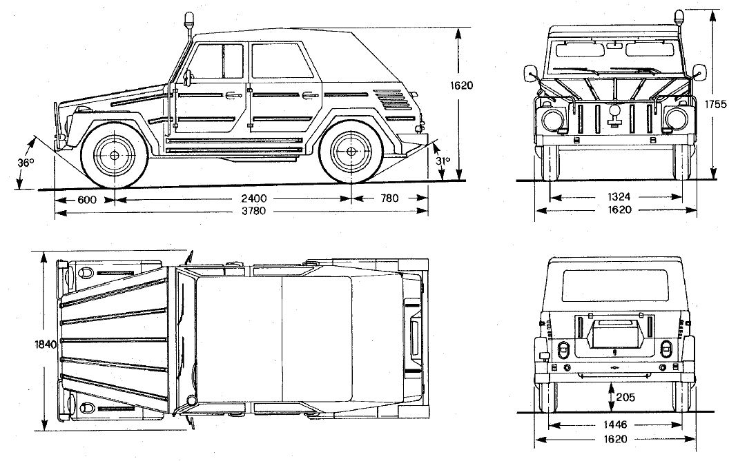 Image Result For Vw Thing Dimensions