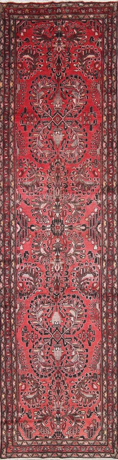 Geometric Red Lilian Persian Hand Knotted 4x14 Wool Runner Rug In 2020 Wool Runner Rug Rugs Hand Knotted