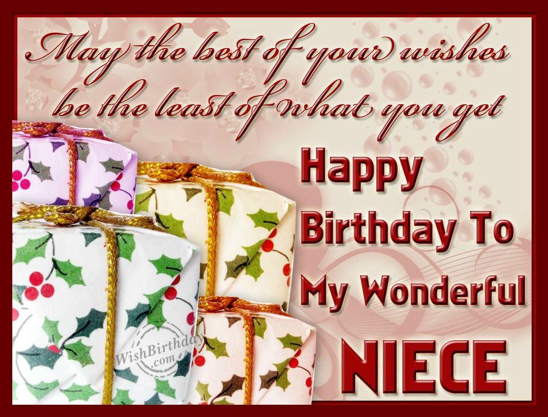 Happy Birthday To My Wonderful Niece Birthday Wishes And Images Happy Birthday Niece Niece Birthday Wishes