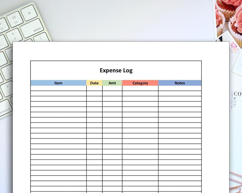 Expense Log Printable Personal Finance Tracker Money Planning