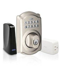 Schlage Link Deadbolt Lock Kit Satin Nickel By Schlage Lock Company 199 00 Z Wave Deadbolt Lock Kit Satin Nickel Home Door Hardware Locks Keypa