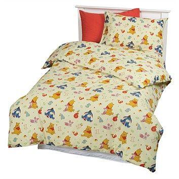 Sheet Sets - Bedroomware - Briscoes - Sleepy Pooh Flannelette Duvet Cover Set