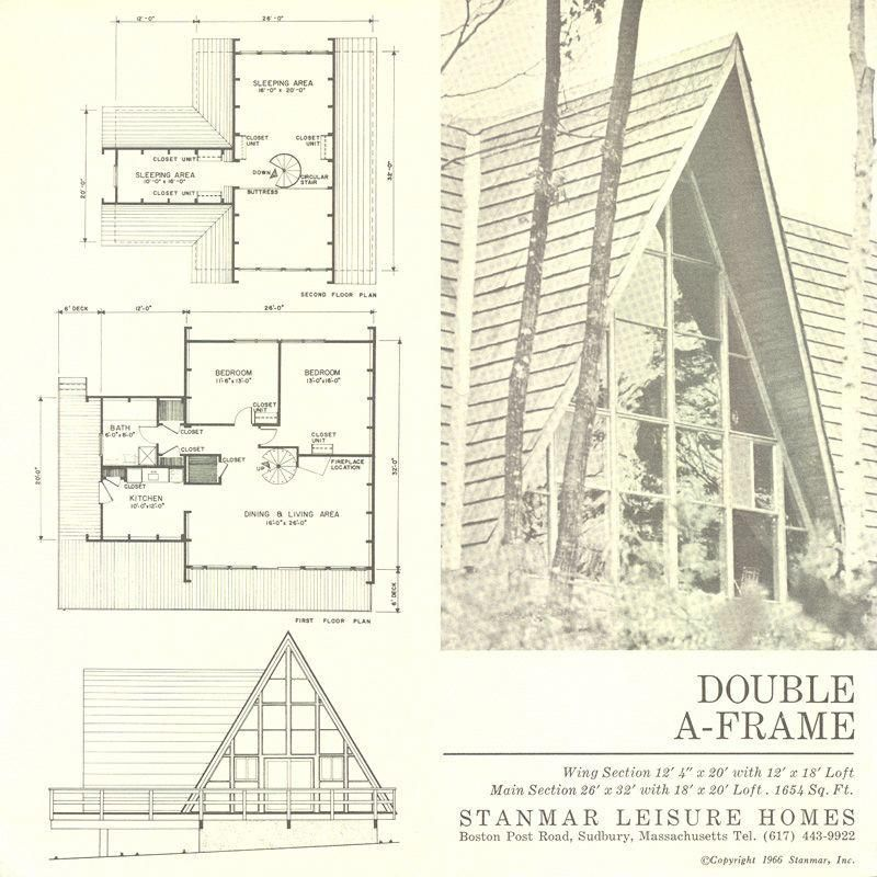 Double A Frame A Framecabin Houseframing Framing Woodframing Toolzguide A Frame House Plans A Frame House Vintage House Plans