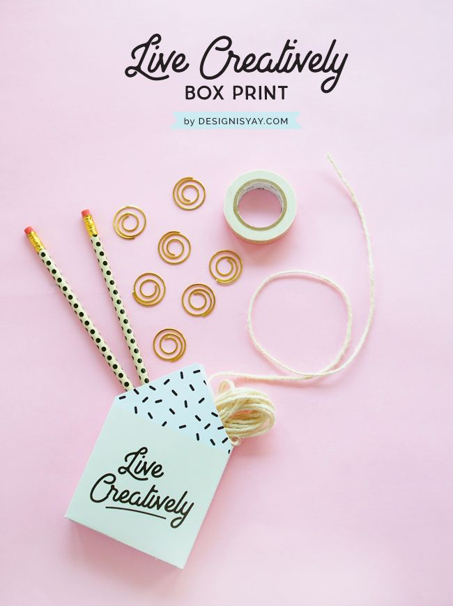 Live Creatively Box Print | FREE PRINTABLE BY DESIGN IS YAY for your creative life