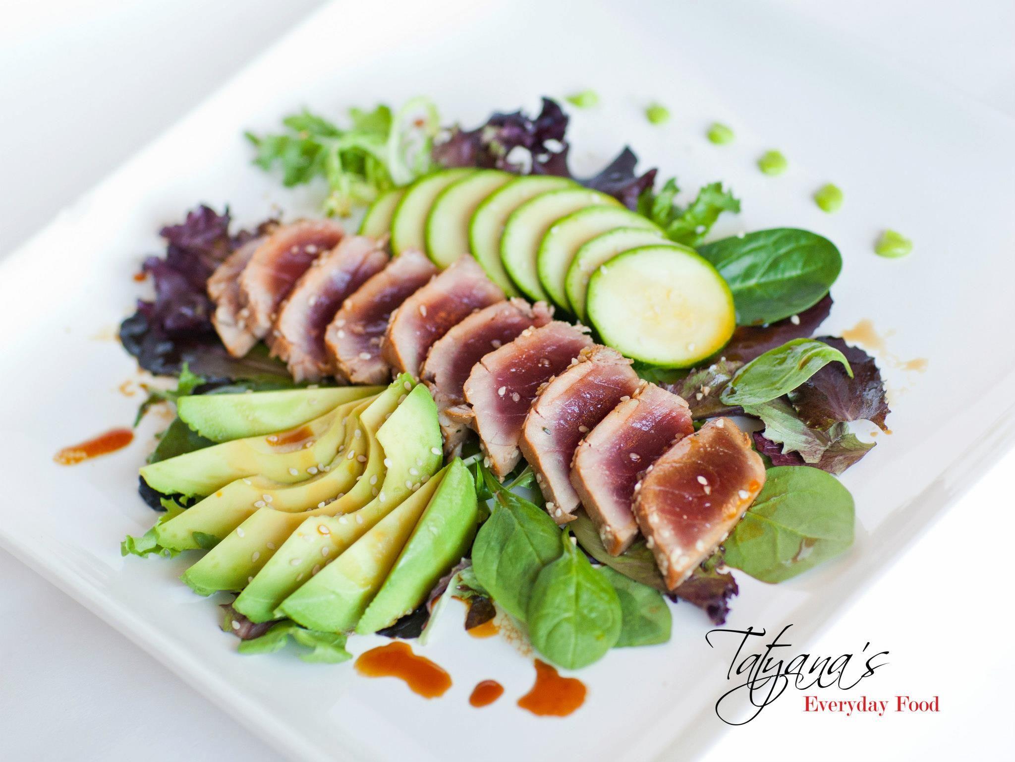recipe: pan seared tuna with wasabi sauce [29]