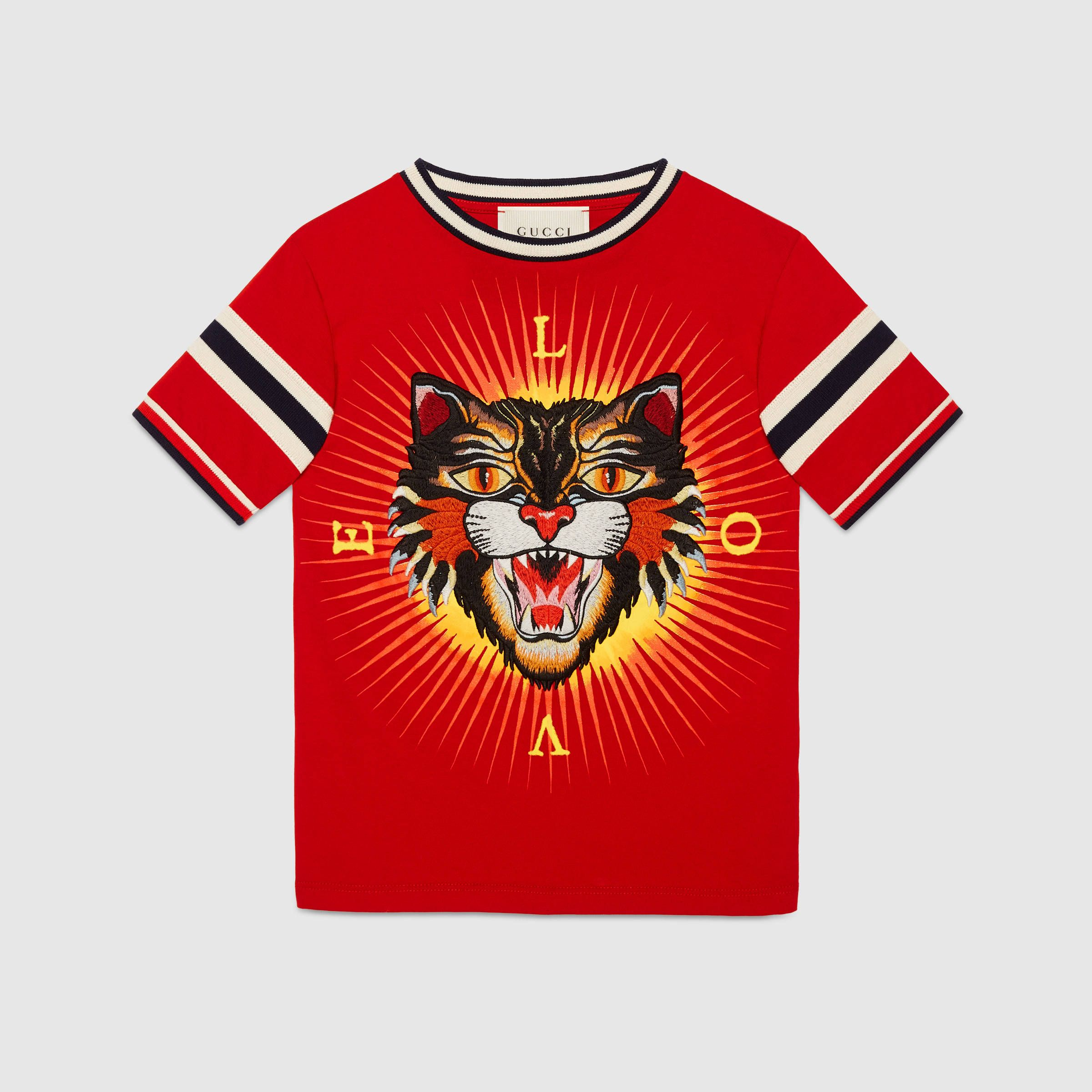 2fc20d6ca Childrens Cotton T Shirt With Gucci Logo