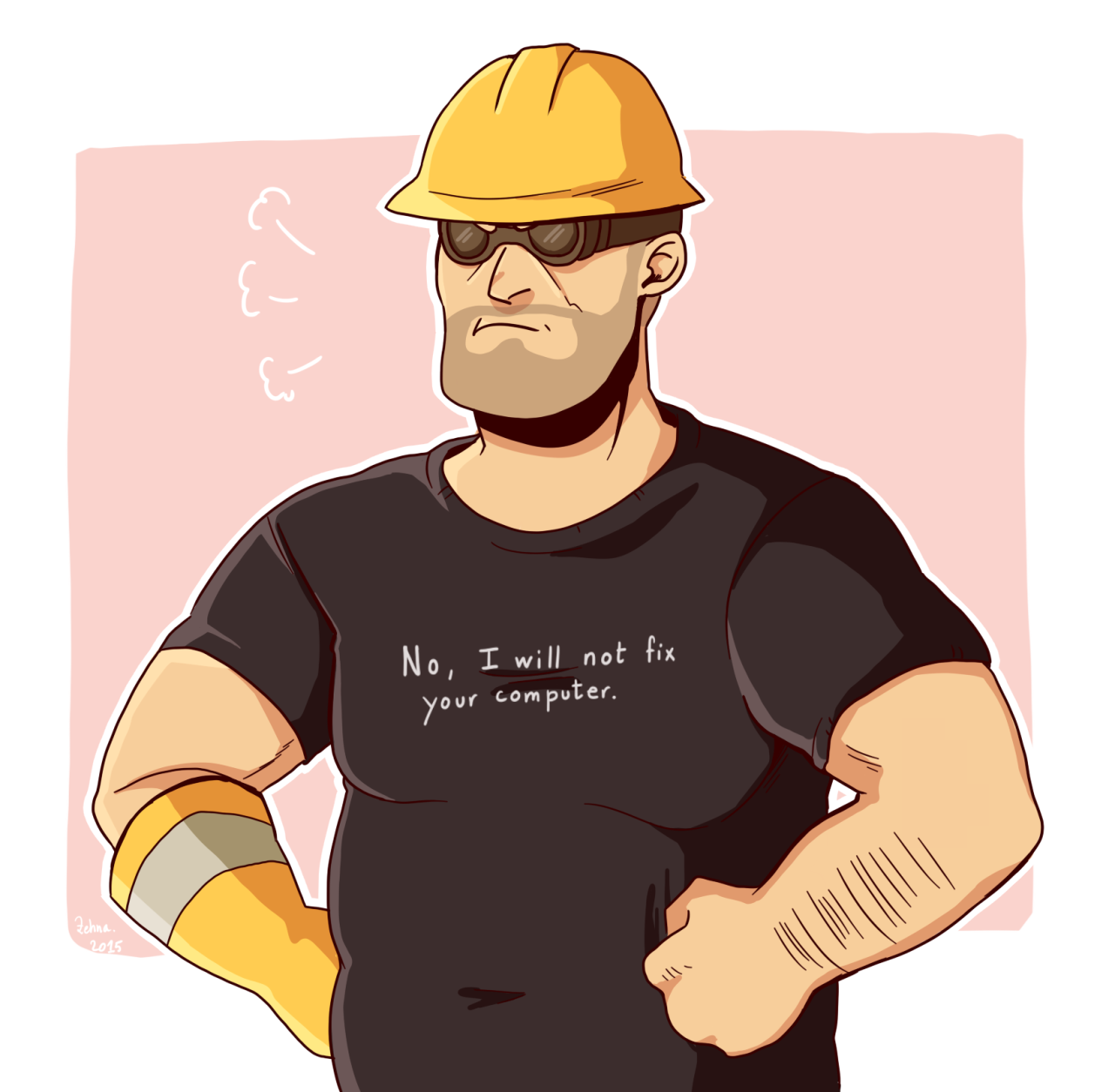 Greyrose Tf2 Engineer Teamfortress Videogames Team